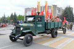 在胜利天游行的罕见的卡车ZIS-5V 库存照片