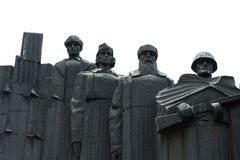 在胜利正方形的纪念复合体在市沃罗涅日 免版税库存图片