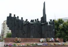 在胜利正方形的纪念复合体在市沃罗涅日 图库摄影