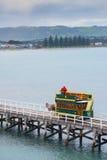 在胜者港口,南澳大利亚的用马拉的电车 免版税库存图片