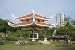在胡志明万神殿的纪念复合体的眺望台  头顿,越南 免版税库存图片