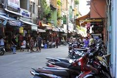 在胡志明上街道,西贡 越南 免版税库存图片