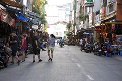 在胡志明上街道,西贡 越南 免版税库存照片
