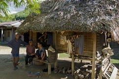 在胡志明小道附近的村庄,越南 免版税库存照片