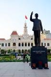 在胡志明广场的人旅行 免版税库存图片