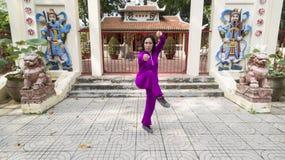在胡志明,越南的老部分的老水塔 免版税库存图片