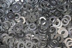 在胡说的螺栓镀铬物下的金属洗衣机格罗弗 图库摄影