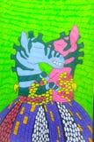 在胳膊的爱恋的斑马 皇族释放例证