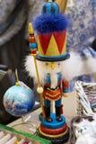 在胶莫斯科的圣诞节玩具 胡桃钳和老鼠国王 库存图片