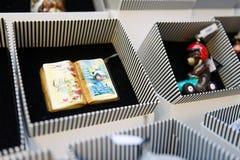 在胶,莫斯科,俄罗斯的圣诞节礼物 免版税库存照片