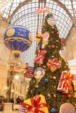 在胶-商城的圣诞节装饰在莫斯科 库存图片