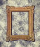 在脏的纹理的巴洛克式的框架 免版税图库摄影