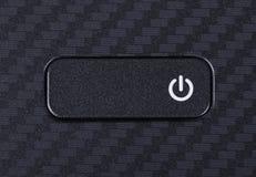 在膝上型计算机键盘的力量按钮  图库摄影