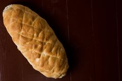 在自创国内面包上的平的位置与拷贝空间 免版税图库摄影