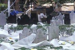 在自动收报机纸条游行,纽约,纽约以后的三位一体墓地 免版税库存照片