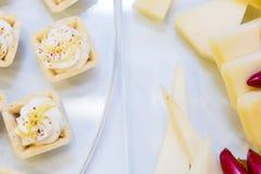 乳酪开胃菜 库存照片