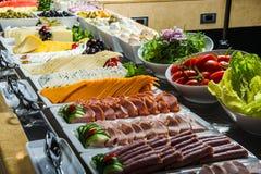 在自助餐的不同的开胃菜 免版税库存照片
