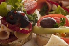 在自助餐的开胃菜选择 免版税库存照片