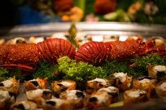 在自助餐的龙虾 免版税图库摄影