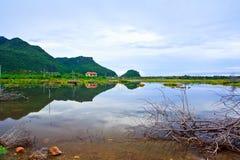 在自然中的村庄 图库摄影
