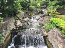在自然中的瀑布 免版税库存照片