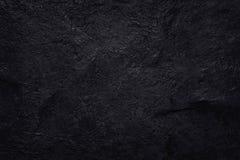 在自然样式的深灰黑板岩纹理 黑色石墙 免版税库存照片
