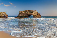 在自然桥梁国家海滩的曲拱 库存照片