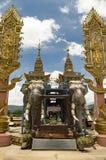 在自然泰国缅甸和的老挝之间的金黄三角边界 免版税库存图片