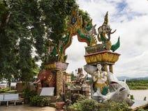 在自然泰国缅甸和的老挝之间的金黄三角边界 图库摄影
