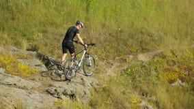 在自然的人自行车 股票视频