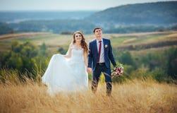在自然的婚姻的步行 图库摄影