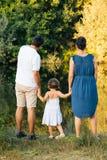 在自然的家庭 免版税图库摄影