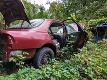在自然的老汽车 免版税库存图片