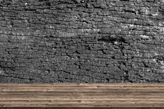 在自然老木背景的抽象木桌纹理 库存照片