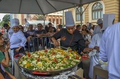 在自由广场的美食术星期在贝洛奥里藏特,巴西 图库摄影