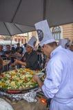 在自由广场的美食术星期在贝洛奥里藏特,巴西 免版税库存图片