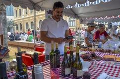 在自由广场的美食术星期在贝洛奥里藏特,巴西 库存图片