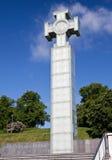 在自由正方形的自由纪念碑,致力于1918-1920,塔林解放的战争, 库存照片