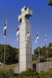 在自由正方形的EstoniaFreedom纪念碑,致力于1918-1920,塔林解放的战争, 库存图片