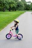 在自行车上 免版税库存图片