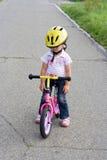 在自行车上 免版税图库摄影