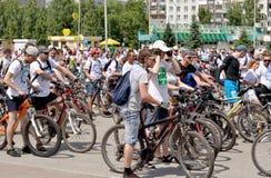 在自行车乘驾开始前 免版税库存图片