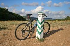 在自行车的体育暴涨 免版税库存图片