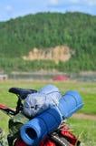 在自行车的旅行 库存照片