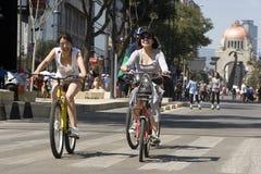 在自行车的星期天 免版税库存照片