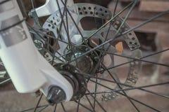 在自行车的水力闸圆盘 免版税图库摄影