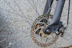 在自行车的闸圆盘 免版税库存图片