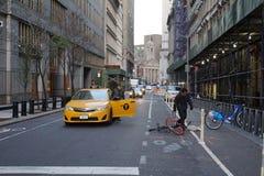 在自行车车道的事件 图库摄影