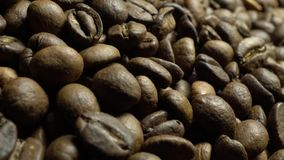 在自转的咖啡豆 影视素材
