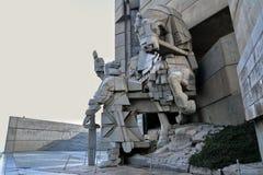 在舒门纪念碑,保加利亚的雕象 库存照片
